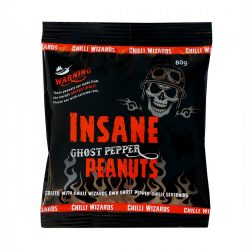 Insane Ghost Pepper Chilli Peanuts 80 gramm